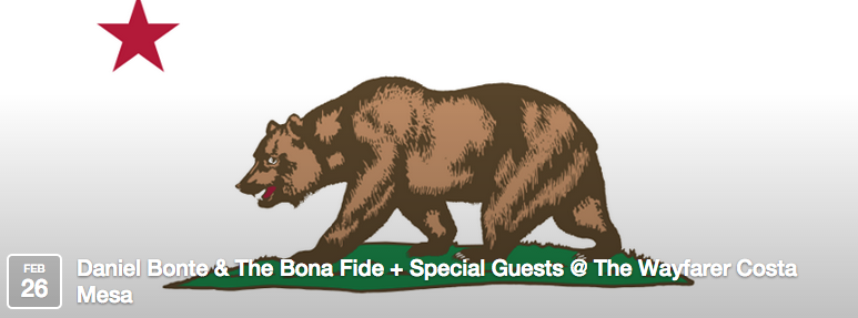 Daniel Bonte & The Bona Fide + Special Guests @ The Wayfarer Costa Mesa