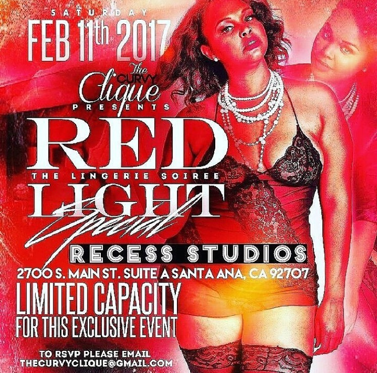 "The Curvy Clique Presents ""Red Light Special"" a plus sized Lingerie Party."